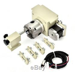 0.8KW Spindle+VFD 3040Z 4 Axis CNC Router Engraver Milling Drilling Machine Wood
