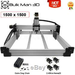 1.51.5M 4Axis WorkBee CNC Router Machine Kit Milling Engraver + Cable Chain Set
