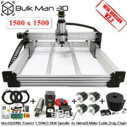 1.51.5m WorkBee CNC Router 4 Axis CNC Milling GRBL 1.5KW Air Engraver CNC Mill