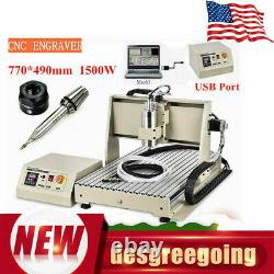 1.5KW 3 Axis USB 6040 CNC Router Engraver PCB Cutting Drilling Milling Machine