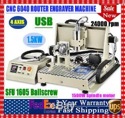 1.5KW CNC Router Wood Engraving Milling Machine USB 4Axis for Acrylic Metal MDF