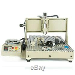 1.5KW VFD USB 4 Axis CNC 6090 Router Engraving Machine Drill Mill Carver Cutter