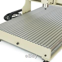 110V USB 4axis 6090 CNC Router Engraver 3D Engraving Milling Metal Steel Machine