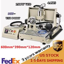 1500W 4 Axis USB CNC 6040 Router Milling Machine Engraver DIY Engraving Cutter
