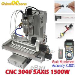 1500W CNC Router 3040 5axis Router Engraving Carving Metal Milling DIY Machine