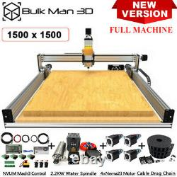 1515 LEAD CNC Router Machine Full Kit 4Axis Wood CNC Milling Engraver