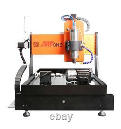2.2KW 4 Axis CNC 6040 Engraving milling Machine&Water Cooling & Linear guides