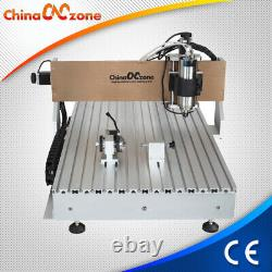 2.2KW CNC 6090 4axis Router Milling Engraving Machine Carving Cutting Machine US