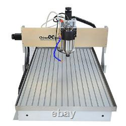 2.2KW CNC Router Milling Engraving Machine 6090 4-Axis Cutting &Handwheel &Sink