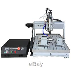 2200W CNC 6040 4Axis Engraver Router Mcah3 USB Milling Engraving Machine&Chiller