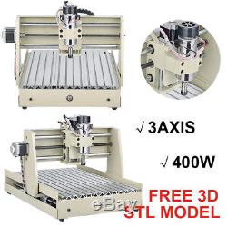 220V EU 3Axis 3040T CNC Router Engraver Cutter Carver Machine Milling Metal Wood