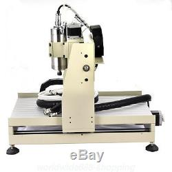 220V EU 4 Axis 3040 800W CNC Router Engraver Engraving Dilling Milling Machine
