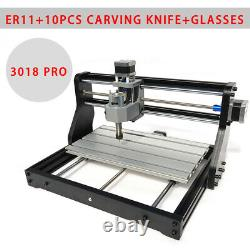 2IN1 3 Axis 3018Pro CNC Router DIY Laser Milling Engraving Machine + 500mW Laser