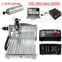 3/4Axis CNC 6040 Engraving Machine Mcah3 USB Router Carving Milling Engraver
