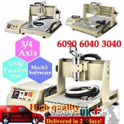 3/4Axis Engraving Machine 6040 3040 USB CNC Router 800/1500W Engraver Mill UK