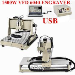 3 AXIS USB CNC Router 6040 Engraver 1.5KW Metal Wood Cutting Mill Drill Machine