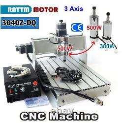 3 Axis 3040Z-DQ 500W CNC Router Kit Engraver Engraving Milling Drilling Machine