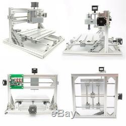 3 Axis 30x18cm DIY CNC Router Kit USB Wood Engraving Carving PCB Milling Machine