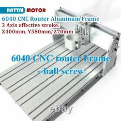3 Axis 6040 CNC Router Engraving Mill Drilling Machine Frame 1605 Ballscrw Kit