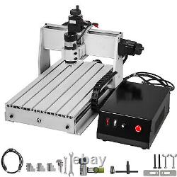 3 Axis CNC 3040 Router Kit 500W 3D Milling Drilling Cutter Wood/PVC 8000rpm US