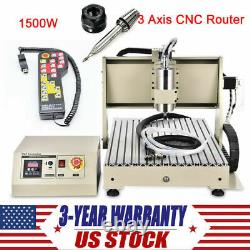 3 Axis CNC 6040 Router Engraving Machine USB Metal Milling Drilling Engraver+RC