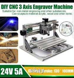 3 Axis CNC DIY Router Kit Wood Engraving Milling Carving Machine PCB USA
