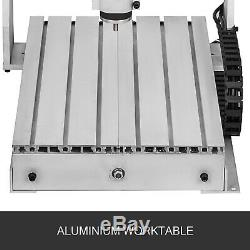 3 Axis CNC Router 3040 Engraving Milling Machine Chrome Plate Shaft Carving DIY