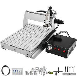3 Axis CNC Router 6040 Engraving Milling Machine Cutter 3 Rotating Axis USB Port