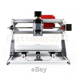 3 Axis CNC Router Engraving Machine Carving Milling PVC/PCB/Wood + 5500MW Laser