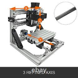 3 Axis CNC Router Kit 1610 500MW Engraving Milling Machine 10000 rpm Woodworking