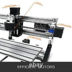 3 Axis CNC Router Kit 3018 +2500MW Laser Head PCB Wood/PVC/Plistic Milling RGBL