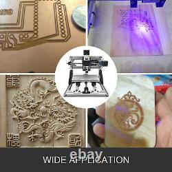 3 Axis CNC Router Kit 3018 2500MW Laser Head Wood PVC Carving Milling RGBL USB