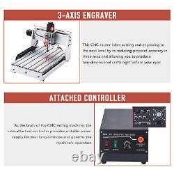 3-Axis CNC Router Machine Wood Cutter Engraver Engraving Milling Cutting Machine