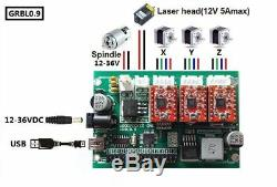 3 Axis DIY 3018 mini CNC Router PCB Wood Milling Engraver Machine & 5500mw laser