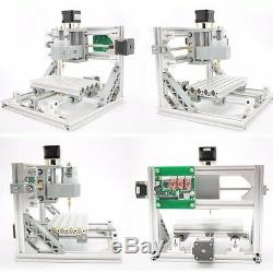3 Axis DIY CNC Mill Router Kit Wood Carving Engraving Machine+ER11+5500mw Laser