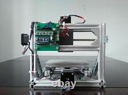 3 Axis DIY CNC Router 16x10cm Carving Engraving PCB Milling Machine+500mW Laser