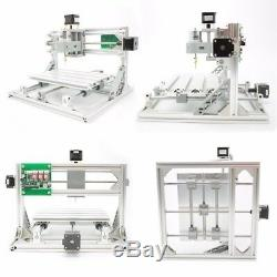 3 Axis DIY CNC Router 24x18cm Wood Engraving USB PCB Milling Machine+500mW Laser