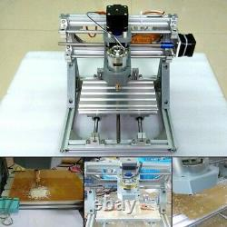 3 Axis DIY CNC Router Machine & 500mW Laser Engraving PCB Milling Wood Carving