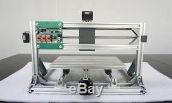 3 Axis Mini DIY CNC 3018+ Router Kit PCB Milling Engraving Machine+2500mW Laser