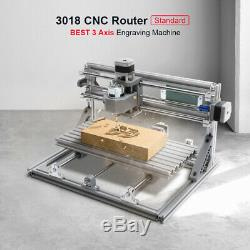3018 3 Axis Mini DIY CNC Router Spindle Motor Wood Engrave Milling Machine
