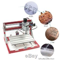 3018 CNC Machine Router 3Axis Engraving PCB Wood Carving DIY Milling Kit Red US