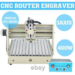3040 Engraver 3 Axis 400W CNC Engraving Milling Drilling Carving Machine EUSTOCK