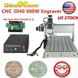 3040Z-DQ CNC Router 3Axis Acrylic Engraving DIY Milling Cutting Machine kit 500W