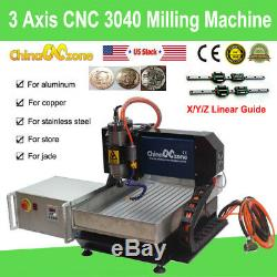 3Axis CNC 3040 Router 2200W Milling Carving Engraving Machine & Linear Guide