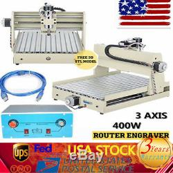 3Axis CNC 3040 Router Engraver Engraving 3D Drilling Milling Cutter Machine New