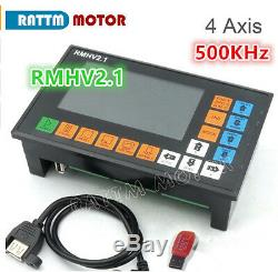 4 Axis 500KHz PLC Offline Stand Alone Controller for CNC Router Milling Machine