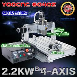 4 Axis 6040 2.2KW USB Mahc3 CNC Router Engraving Milling Machine 220V / 110V AC