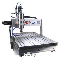 4-Axis CNC Router 6040 Engraving Milling Carving Machine 2.2KW Spindle 220V