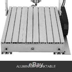 4 Axis CNC Router 6040 Machine 4 Rotating Axis Carving Milling 800W US Stock