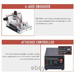 4 Axis CNC Router Machine Wood Engraver Cutter Engraving Milling Cutting Machine